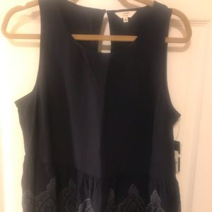 NWT Crown and Ivy Navy Tank Size Medium